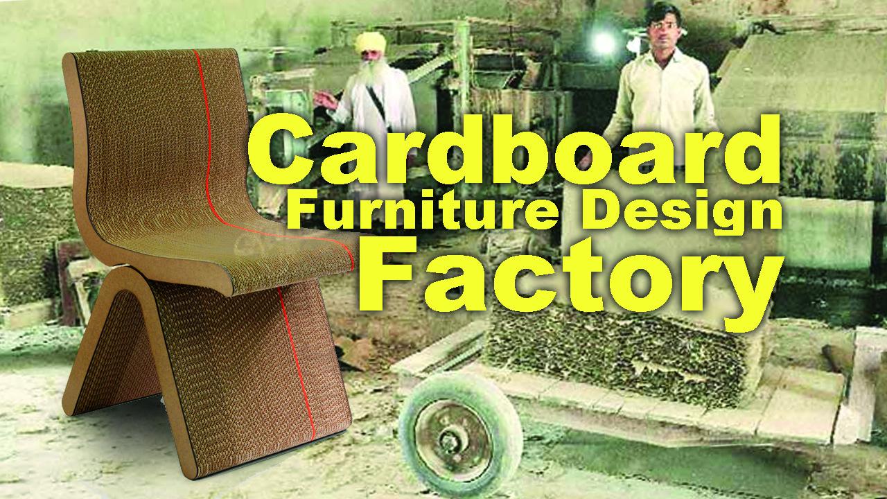 Cardboard furniture design factory
